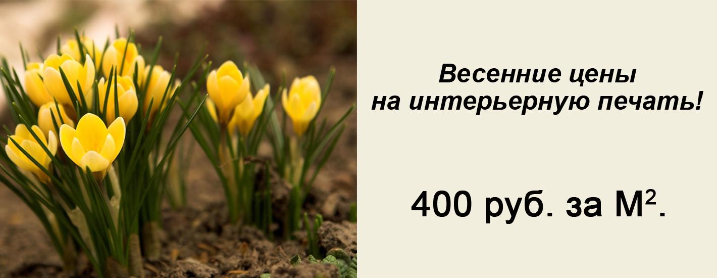Интерьерная печать от 350 руб.